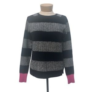 Autumn Cashmere Striped Cable Knit Sweater S
